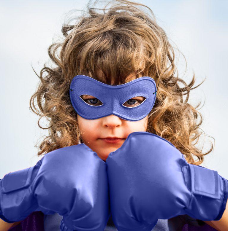 Superhero Girl Gloves Boxed